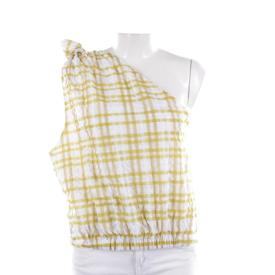 Top von Rosie Assoulin in Weiß und Gelb Gr. XL