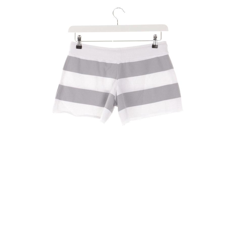 Shorts von Juvia in Hellgrau und Weiß Gr. M