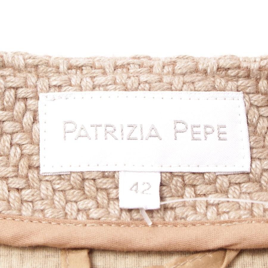 Sommerjacke von Patrizia Pepe in Beige Gr. DE 36 IT 42