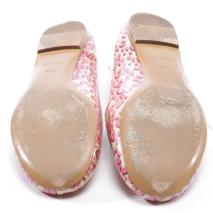 Ballerinas von Louis Vuitton in Creme und Rosa Gr. D 36,5