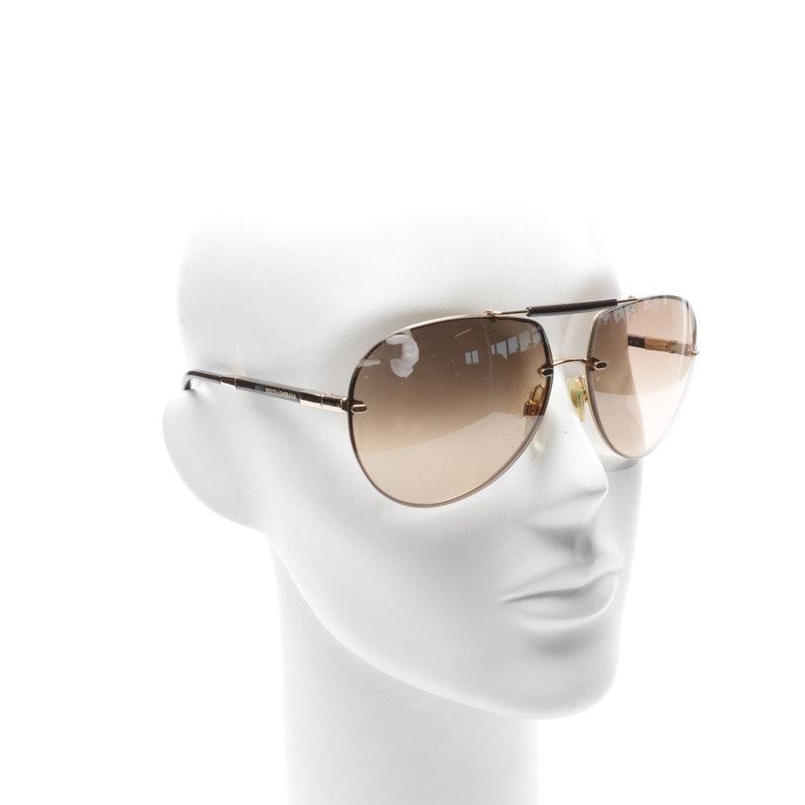 Sonnenbrille von Dolce & Gabbana in Gold und Braun DG2083