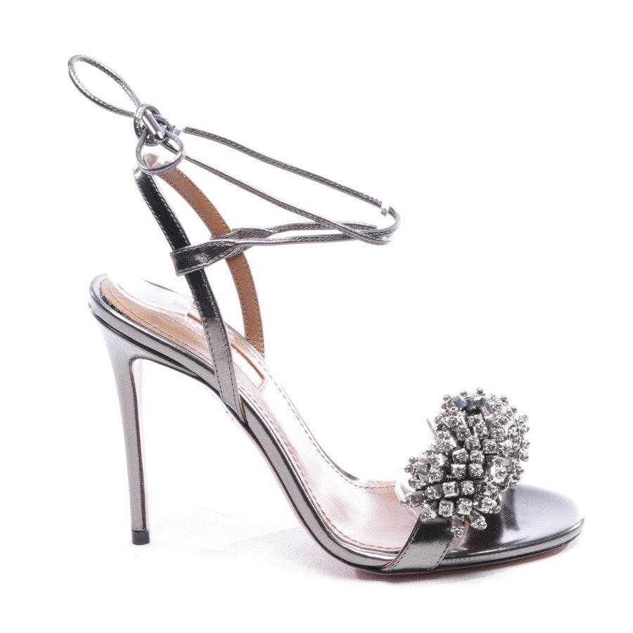 Sandaletten von Aquazzura in Silber Gr. D 35 - Monaco