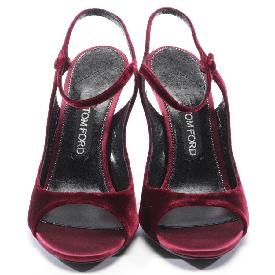 heeled sandals from Tom Ford in bordeaux size D 40 - new