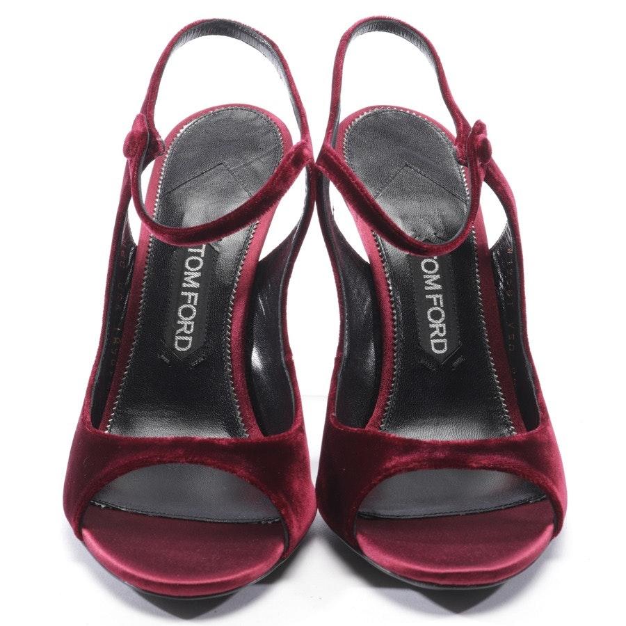 Sandaletten von Tom Ford in Bordeaux Gr. D 40 - Neu