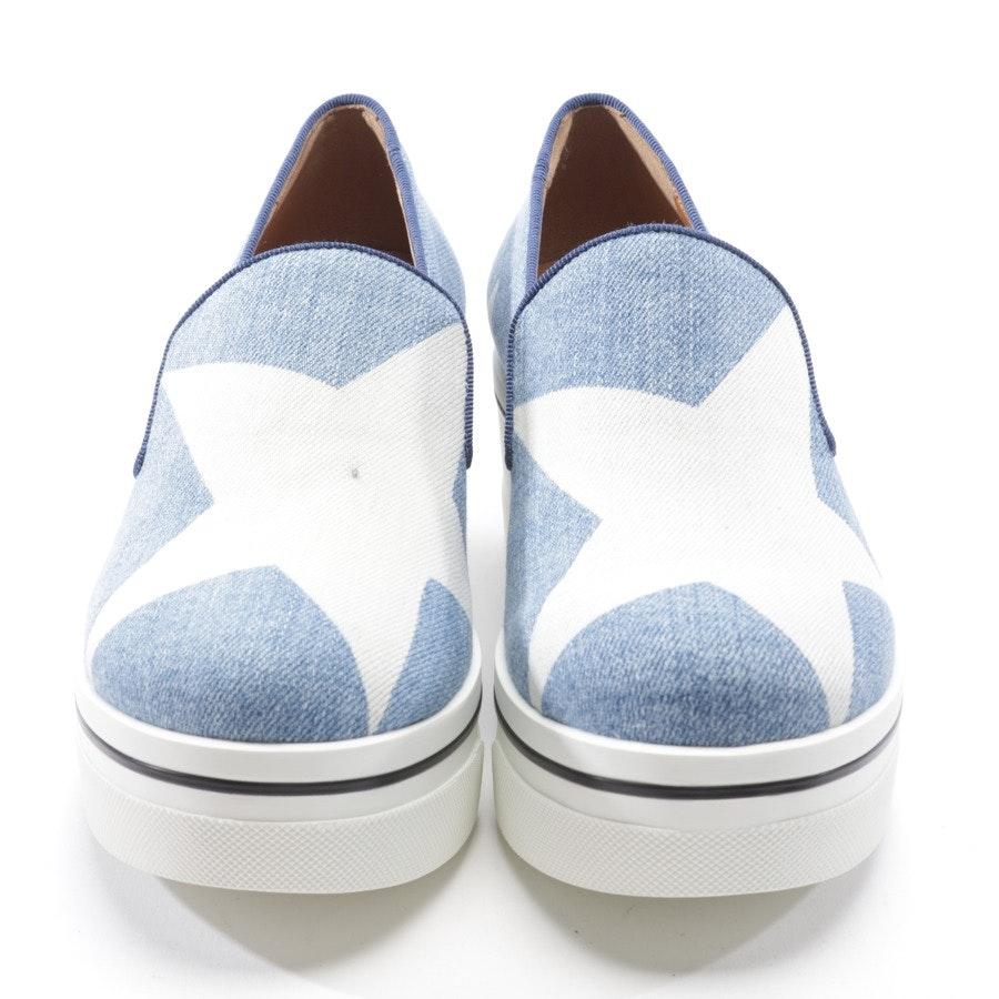 Slipper von Stella McCartney in Blau und Weiß Gr. D 35 - Neu