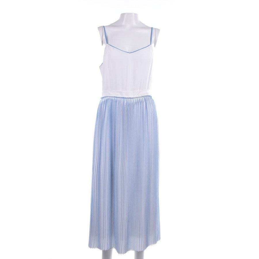 Kleid von Victoria Beckham in Weiß und Blau Gr. 36 UK 10