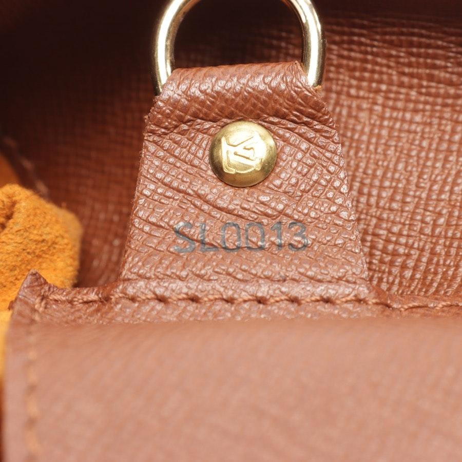 Schultertasche von Louis Vuitton in Dunkelbraun und Beige
