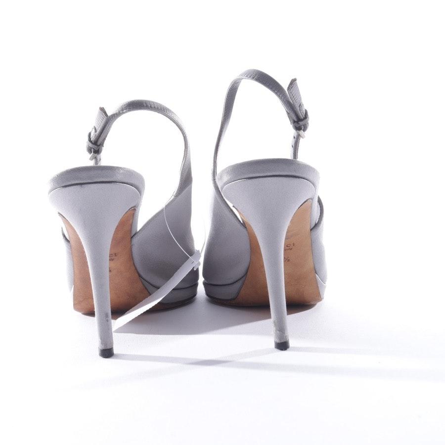 Sandaletten von Gucci in Silber Gr. 38,5 EUR