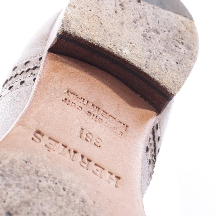 Halbschuhe von Hermès in Camel Gr. 38,5 EUR