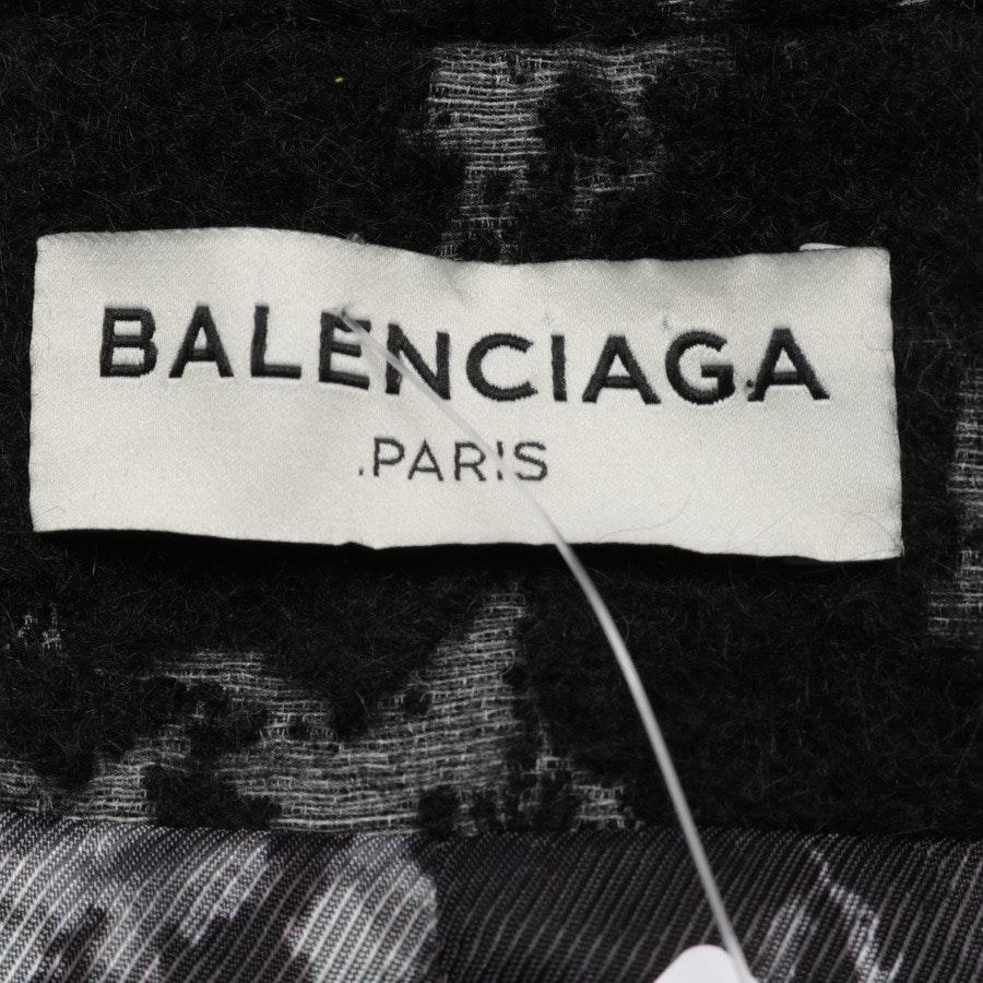 Übergangsmantel von Balenciaga in Schwarz und Grau Gr. 34 FR 36