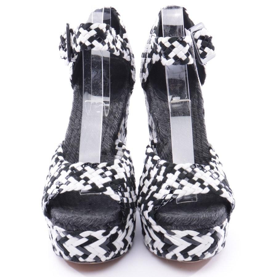 Wedges von Hermès in Schwarz und Weiß Gr. 39 EUR