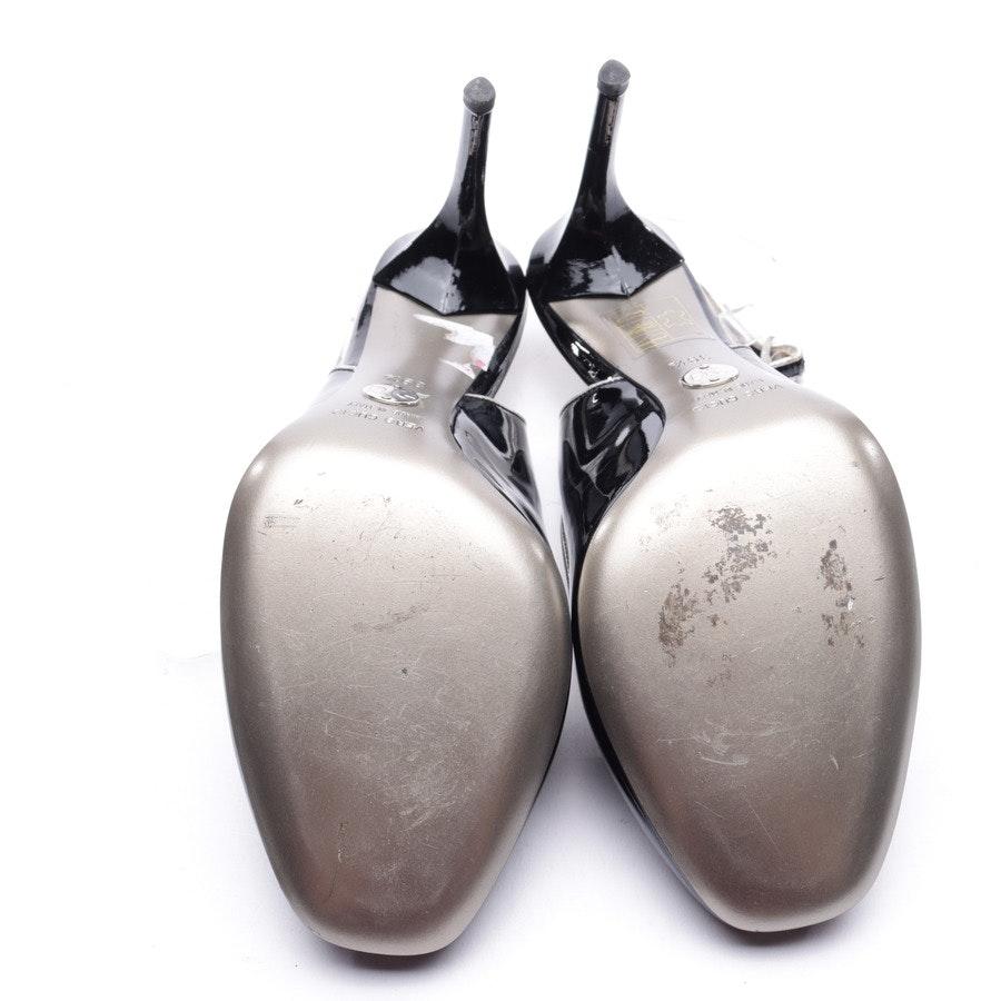 Slingpumps von Dolce & Gabbana in Schwarz und Silber Gr. 39,5 EUR