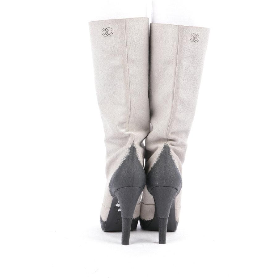 Stiefel von Chanel in Grau und Schwarz Gr. EUR 39