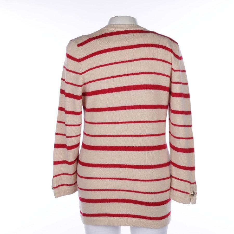 Strickjacke von Chanel in Beige und Rot Gr. 40