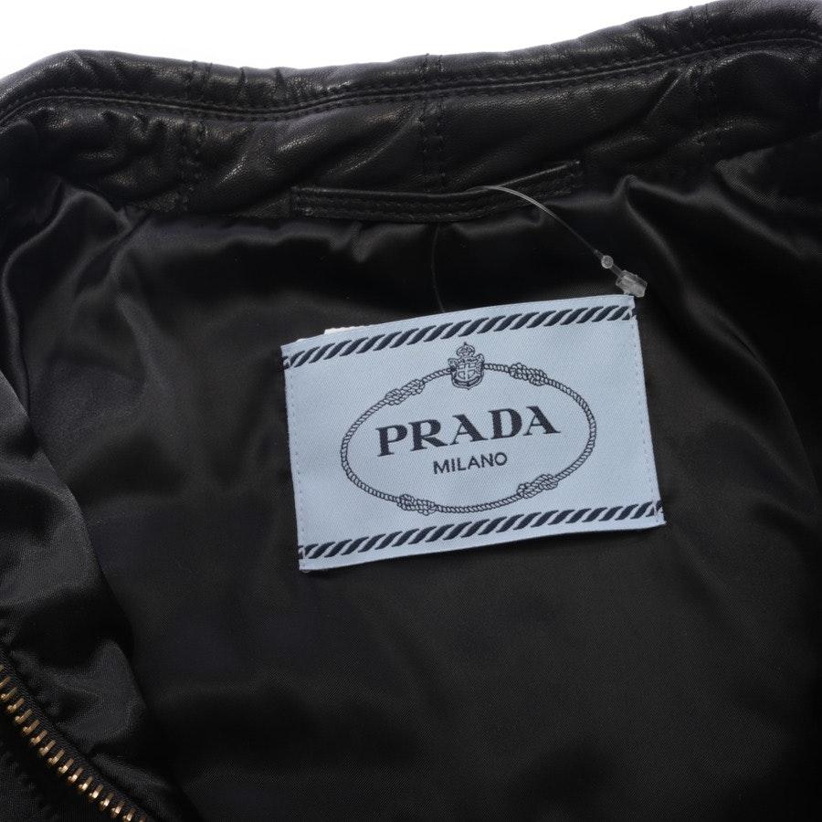 Lederjacke von Prada in Schwarz Gr. 38 IT 44