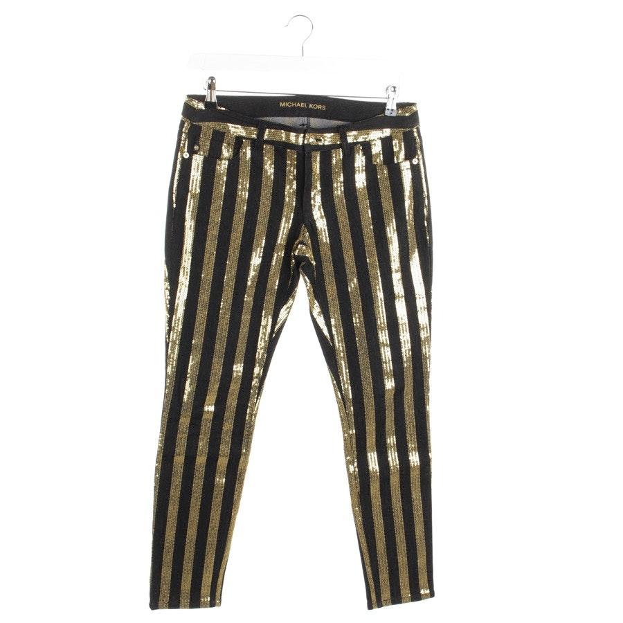 Jeans von Michael Kors in Schwarz und Gold Gr. 36 US 6