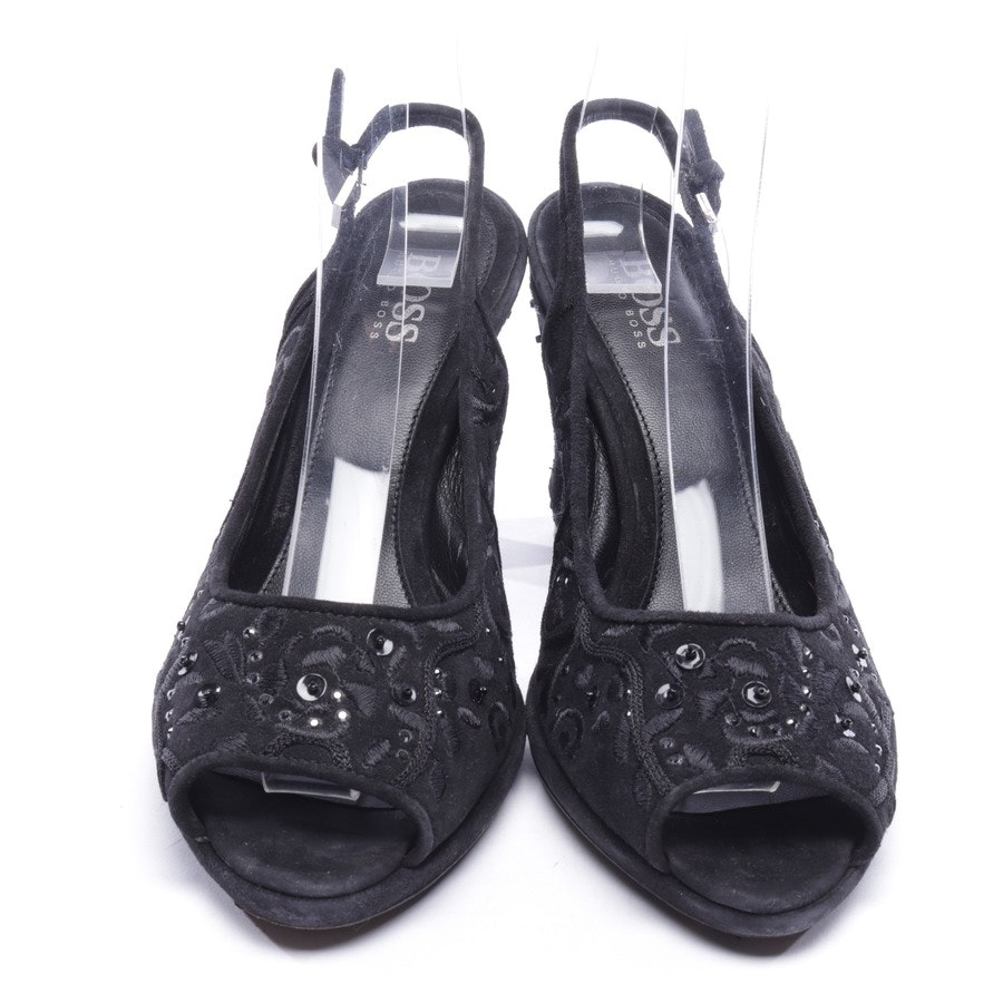 heeled sandals from Hugo Boss Black Label in black size D 37