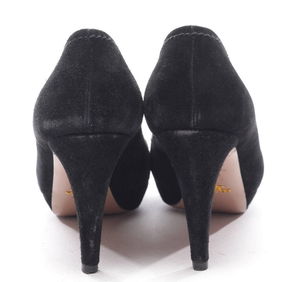 pumps from Prada in black size D 38,5