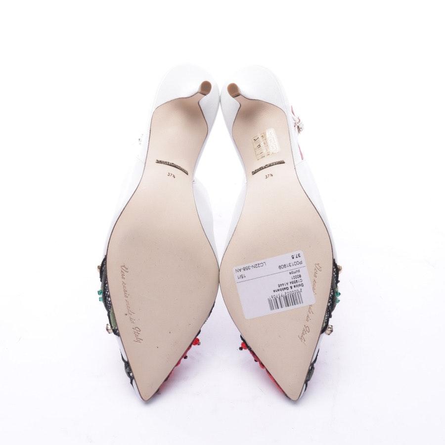 Slingbacks von Dolce & Gabbana in Weiß Gr. 37,5 EUR Neu