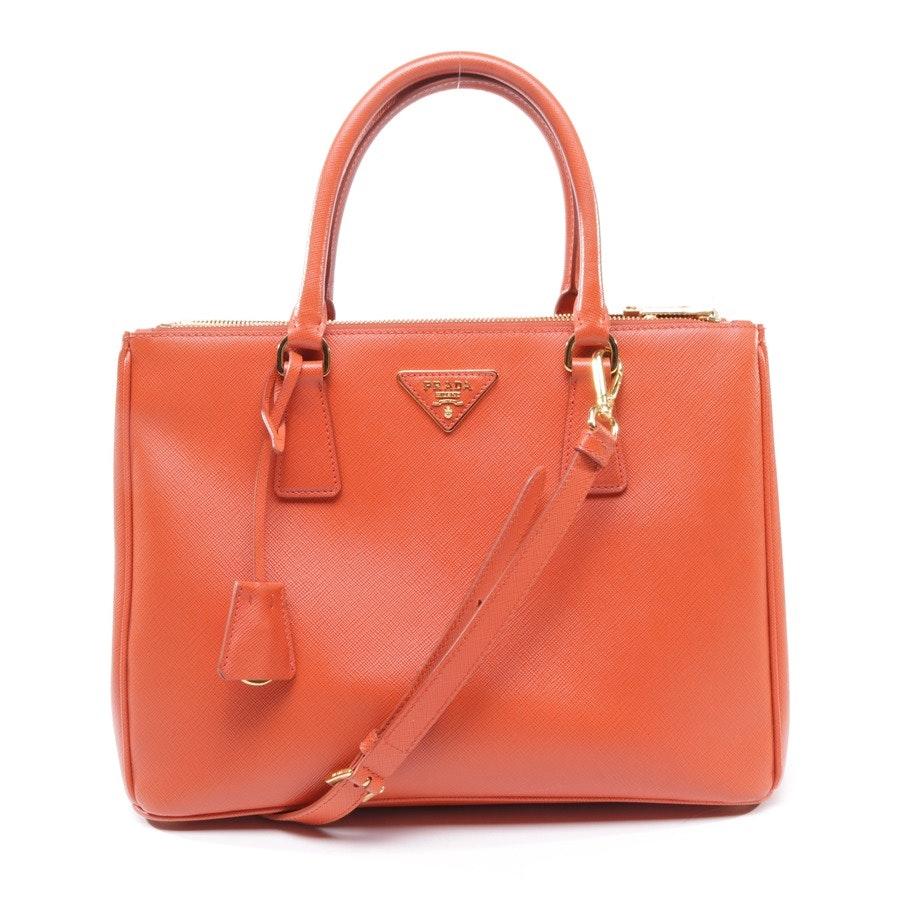 Handtasche von Prada in Orange Rot Galleria Bag M