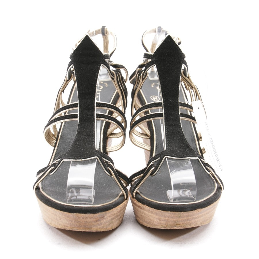 Wedges from Chanel in Black and Gold size 38 EUR