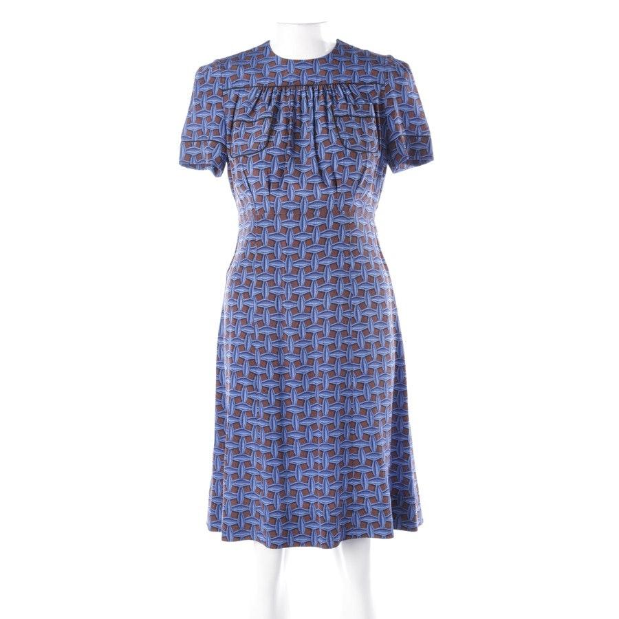 Silk Dress from Louis Vuitton in Darkblue and Cognac size 38 FR 40