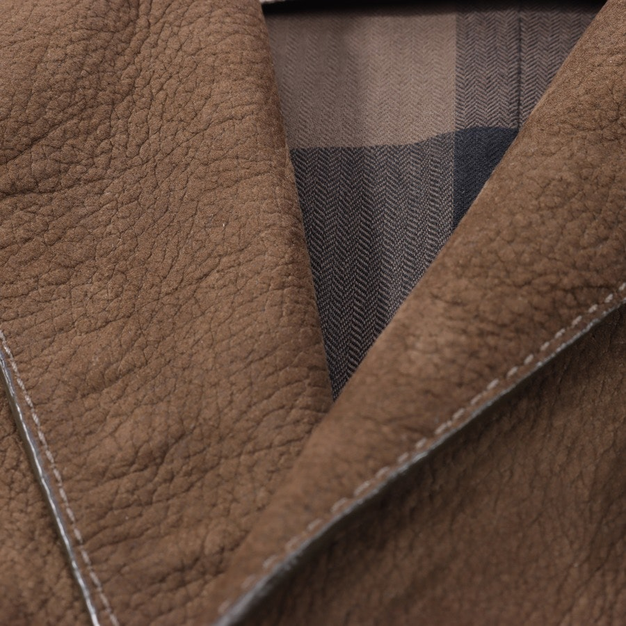 Leather Coat from Burberry Brit in Brown size 36 UK 10