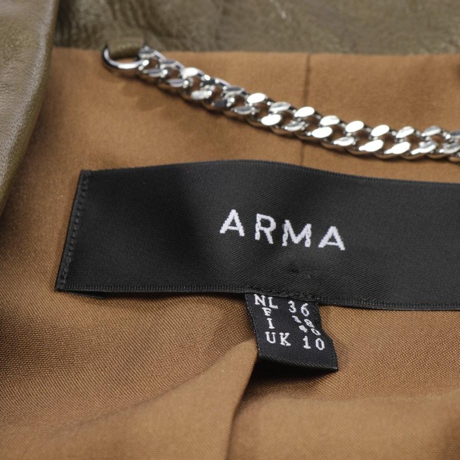 Lederjacke von ARMA in Olivgrün Gr. 36