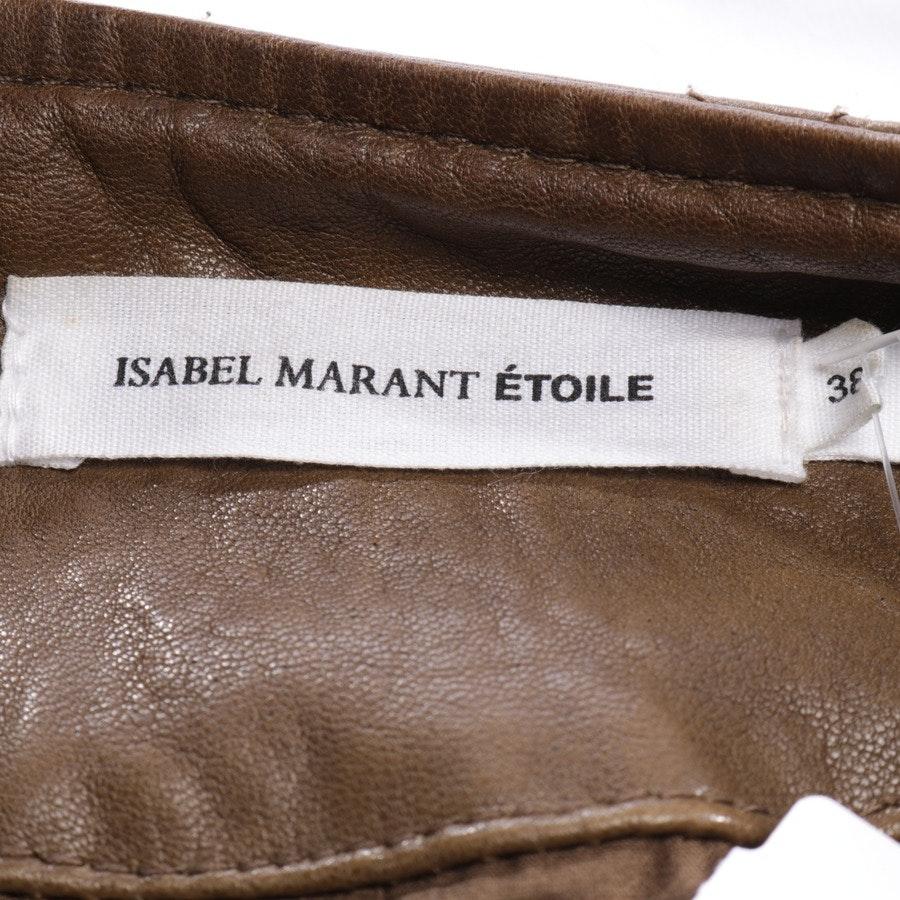 Lederjacke von Isabel Marant Étoile in Braun Gr. 36 FR38