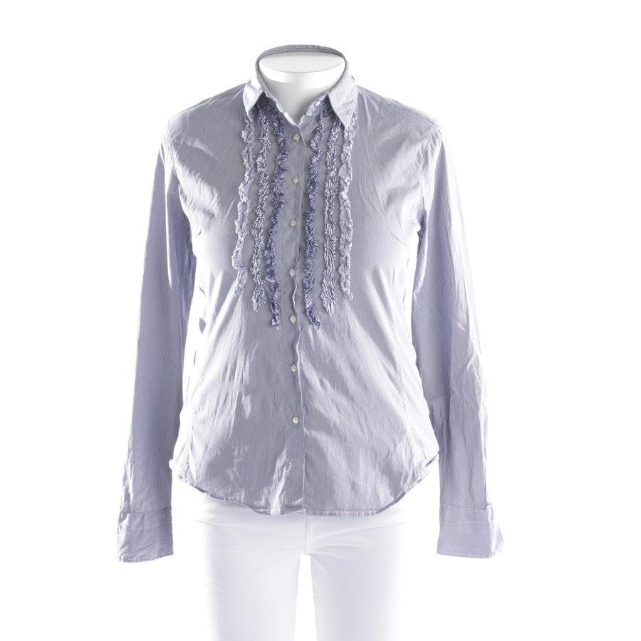 Bluse von Caliban in Blau und Weiß Gr. 40 IT 46