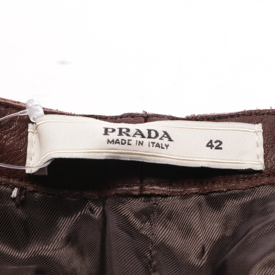 trousers from Prada in brown size 36 IT 42
