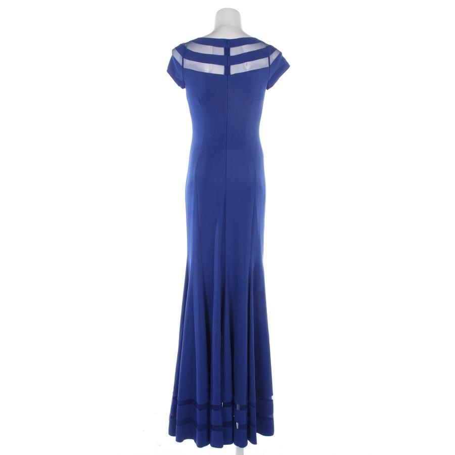 Abendkleid von Mikael Aghal in Blau Gr. 32 US 2