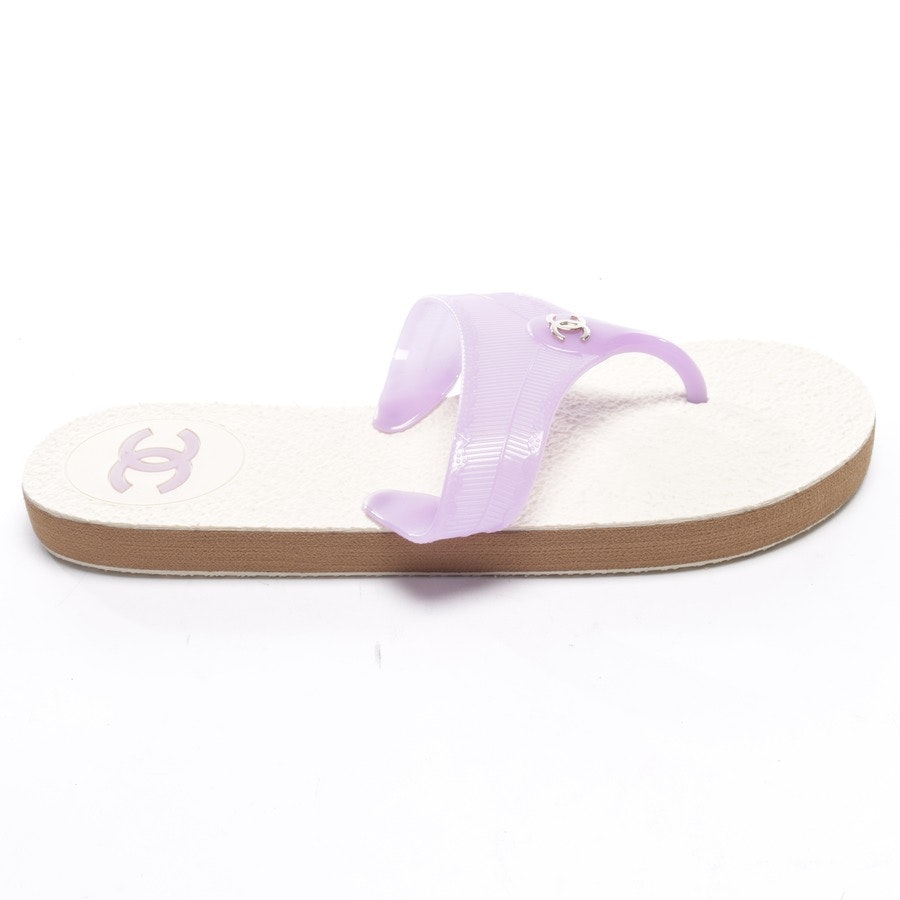 flat sandals from Chanel in Thistle size EUR 41 Neu