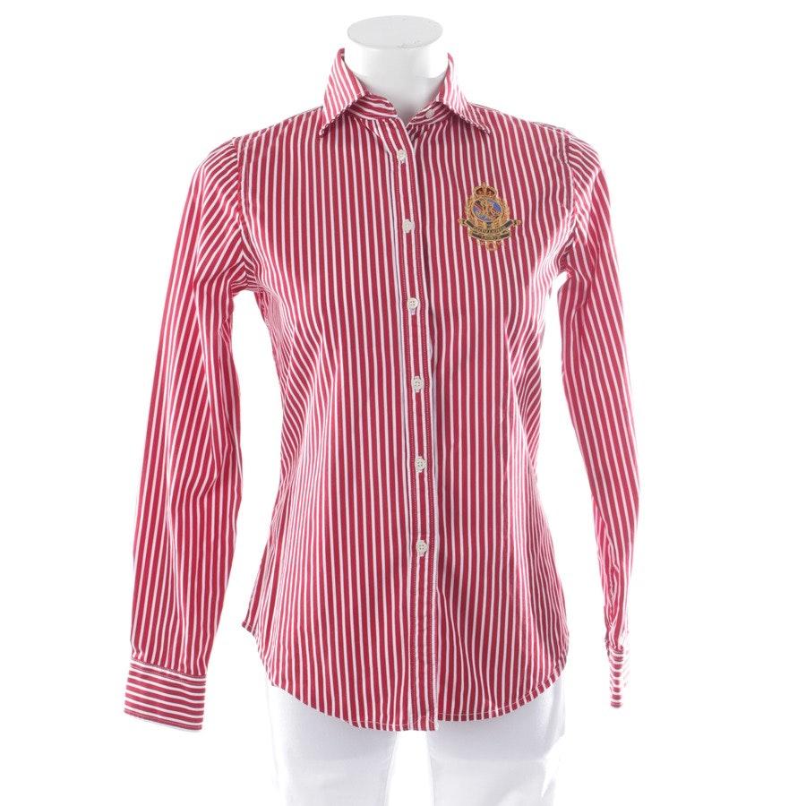Bluse von Lauren Ralph Lauren in Rot und Weiß Gr. XS