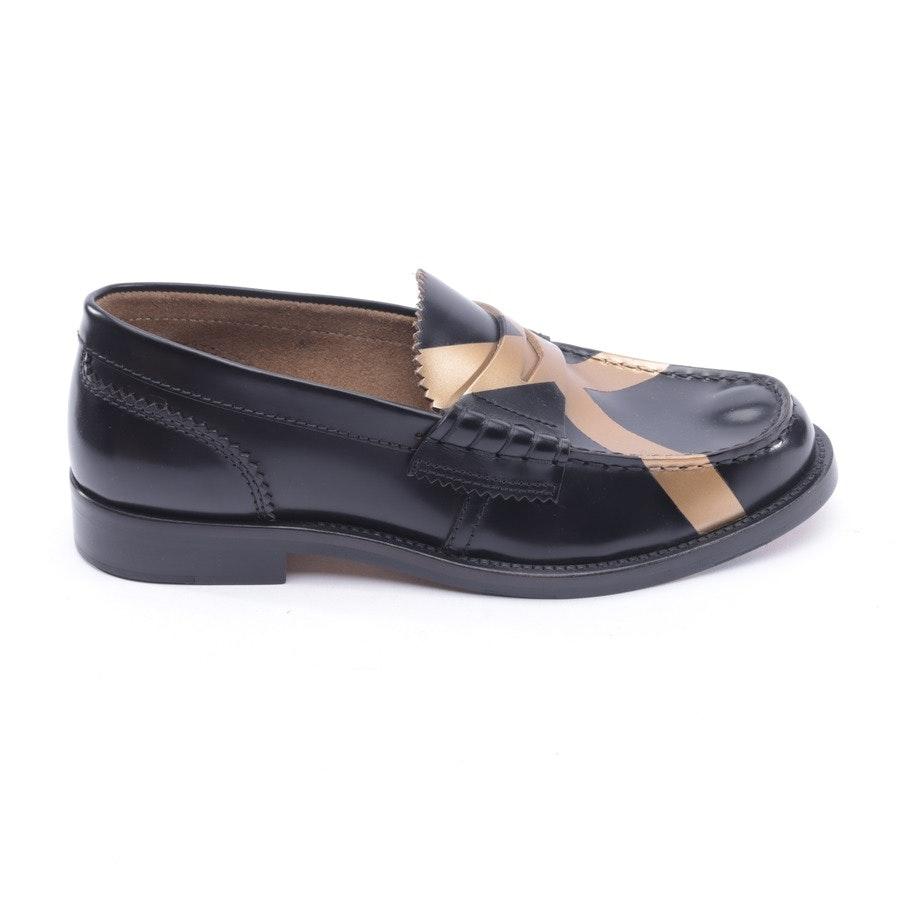 Loafers von College in Schwarz und Gold Gr. 37 EUR Neu