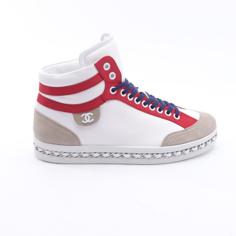 High-Top Sneakers from Chanel in White and Red size 38,5 EUR