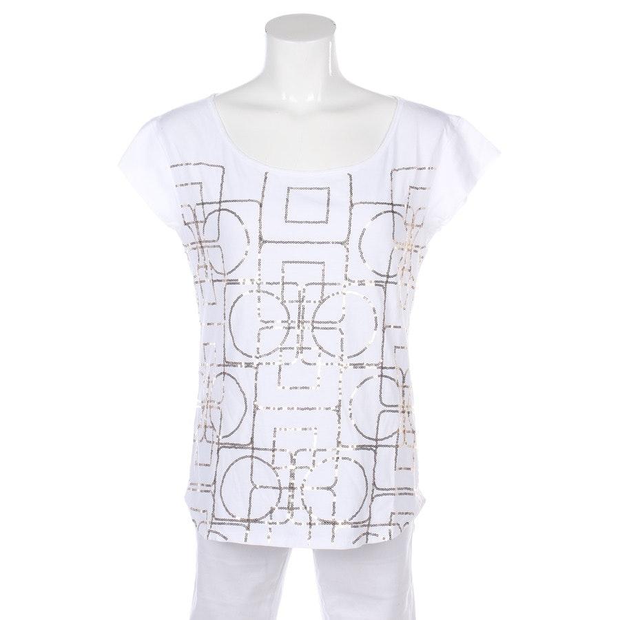 T-shirt von Schumacher in Weiß und Gold Gr. 38 / 3