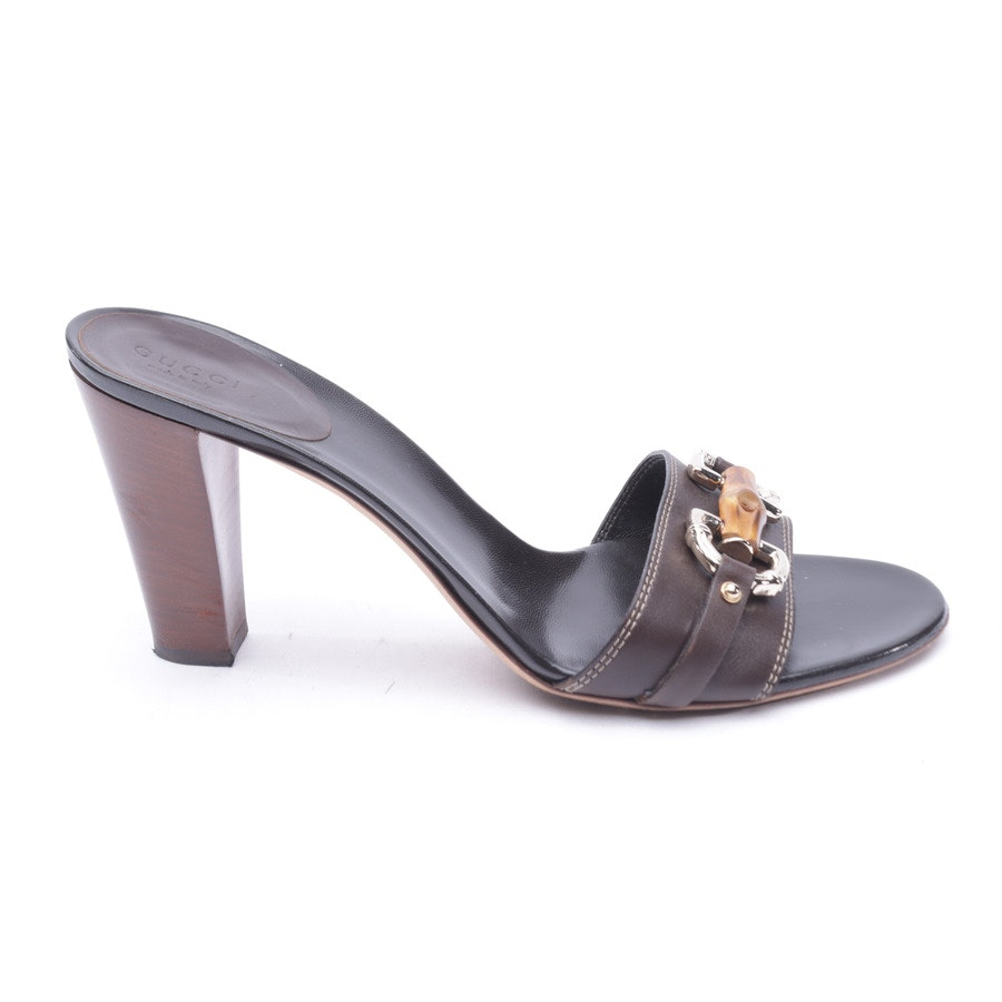 Heeled Sandals from Gucci in Mahogany Brown size 40 EUR
