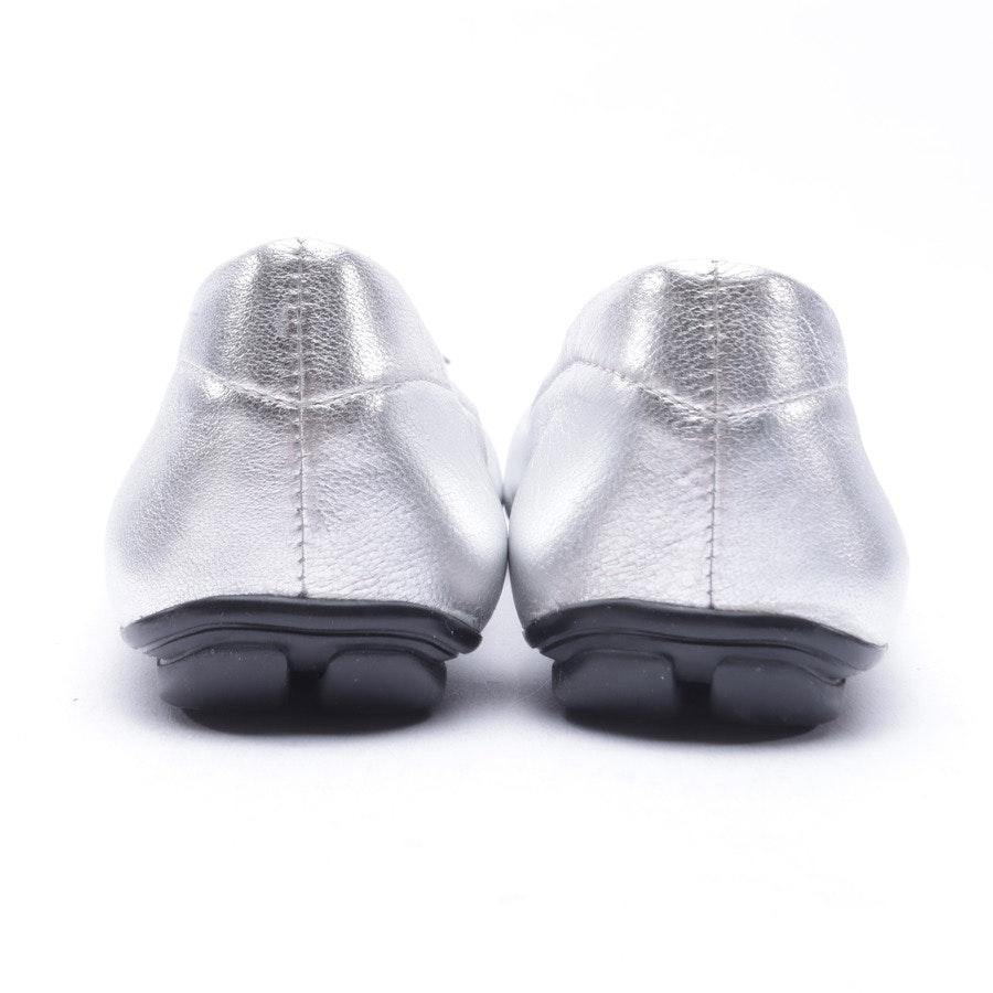 Ballerinas von Prada Linea Rossa in Silber Gr. 35 EUR Neu