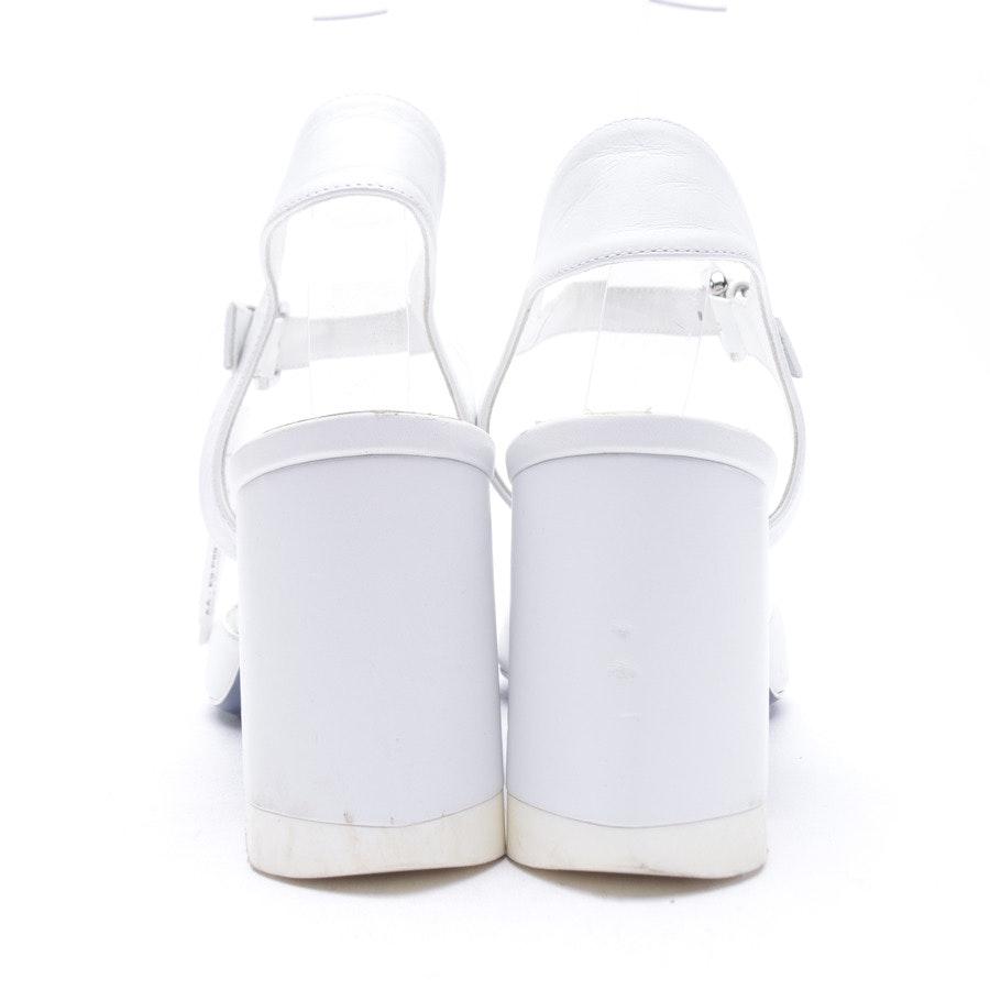 Sandaletten von Jil Sander in Weiß Gr. 39 EUR