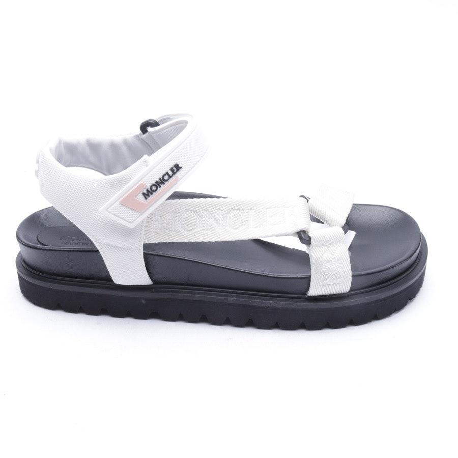 Sandalen von Moncler in Weiß und Schwarz Gr. 40 EUR Neu