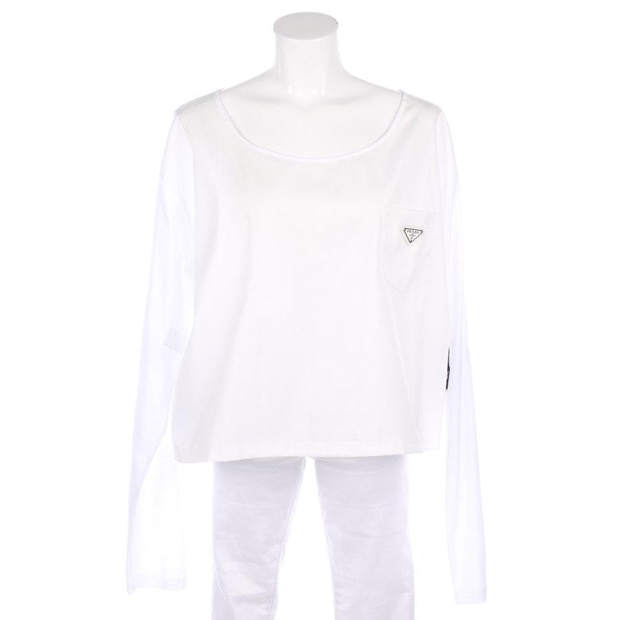 Bluse von Prada in Weiß Gr. L