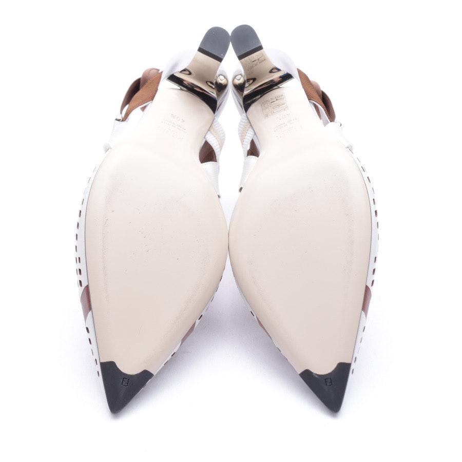 Slingbacks von Fendi in Weiß und Braun Gr. 40,5 EUR