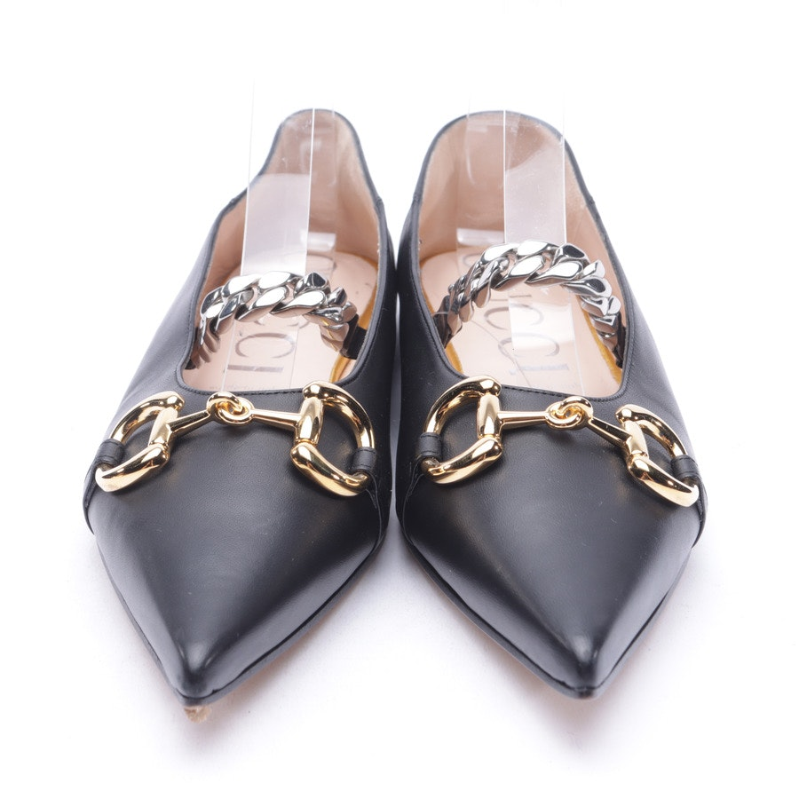 Ballet Flats from Gucci in Black and Gold size 41 EUR New
