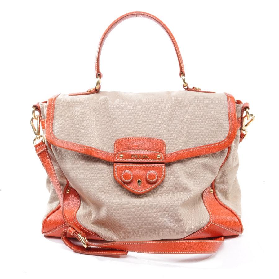 Handtasche von Prada in Beige und Orange Rot