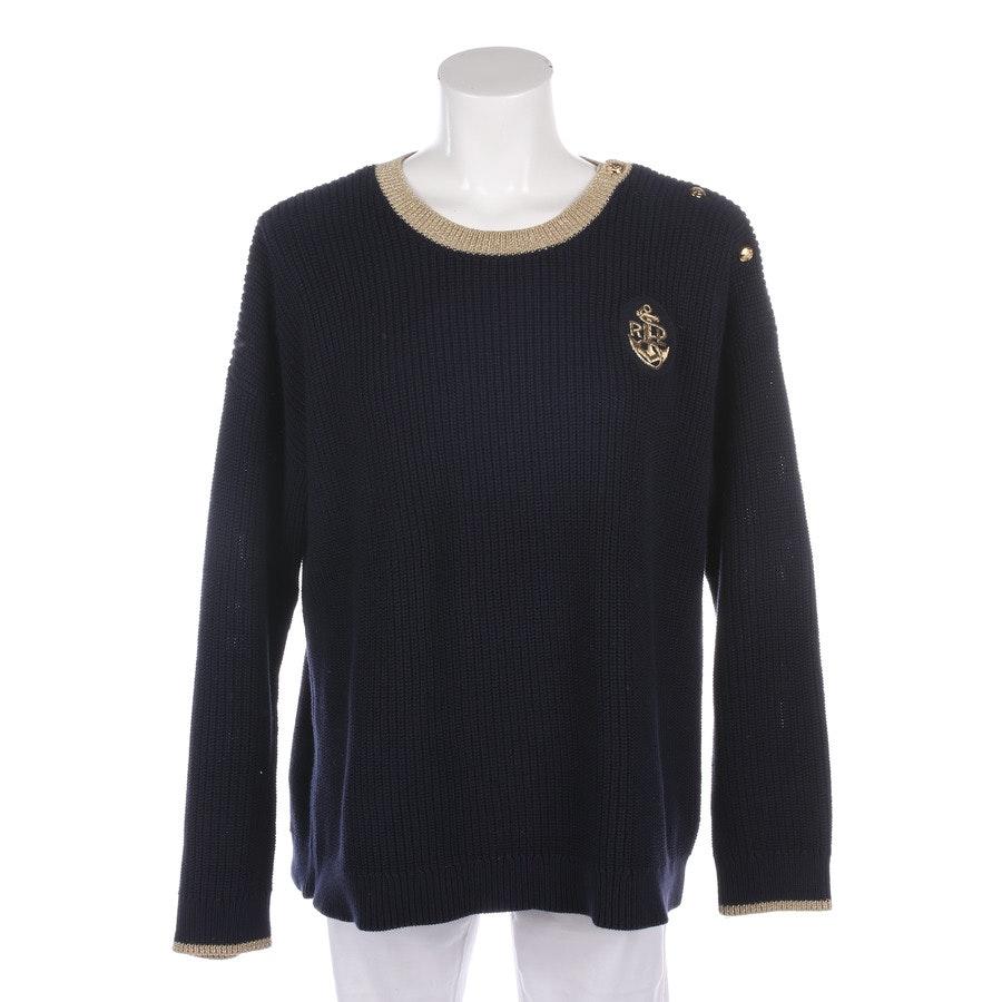 Pullover von Lauren Ralph Lauren in Dunkelblau und Gold Gr. M