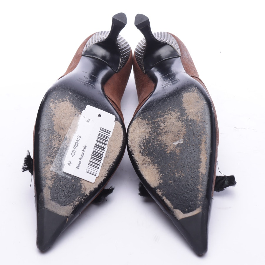 High Heels from Prada in Brown and Black size 40,5 EUR
