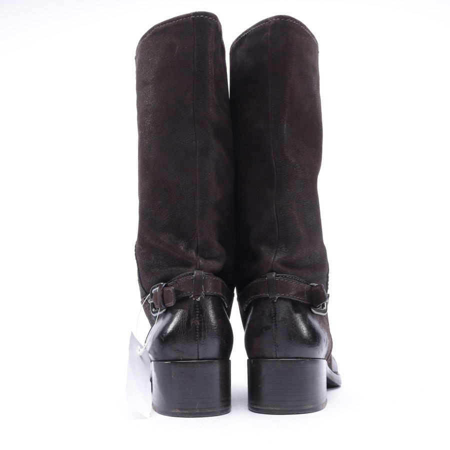 Boots from Prada in Mahogany Brown size 38,5 EUR