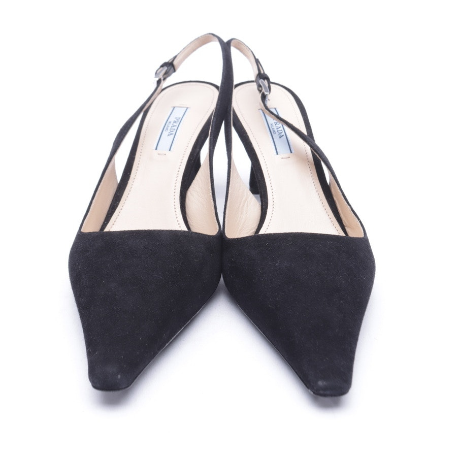 Slingbacks from Prada in Black size 38,5 EUR