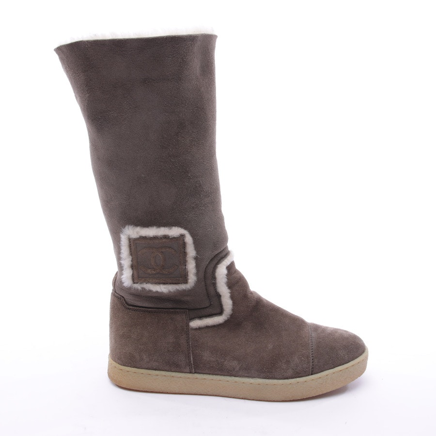 Boots from Chanel in Brown size 38 EUR Fell